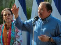 "Critics compare Nicaragua's Daniel Ortega, right, and his wife Rosario Murillo to Frank and Claire Underwood, the pitiless first couple from the hit series ""House of Cards"""