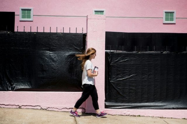 A patient walks into the Jackson Women's Health Organization, the last abortion clinic in Mississippi, on April 5, 2018