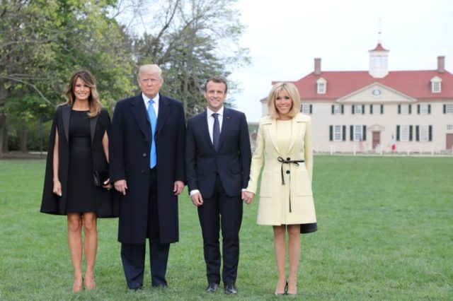 US President Donald Trump and First Lady Melania Trump invited French President Emmanuel Macron and his wife, Brigitte Macron for a private dinner at Mount Vernon, the estate of the first US President George Washington