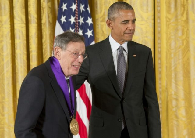 Philip Glass (R), seen here with Barack Obama in 2016, has credited India with helping form his musical vision