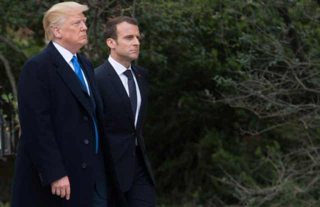 Macron is in Washington this week lobbying Trump to preserve the pact