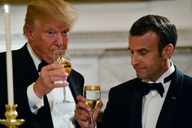 Donald Trump and Emmanuel Macron's call for a 'new' nuclear deal with Iran pushed oil prices lower