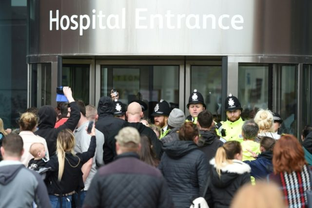 Protesters tried to storm the Liverpool hospital on Monday in support of the father's plea for the boy to be discharged