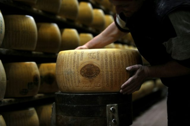 Parmesean, or Parmigiano Reggiano, is the wheel of fortune for the northern Italian region which makes the hard cheese that is a favorite topping for pasta dishes