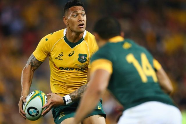 Australia's fullback Israel Folau commented on social media that God's plan for gay people was hell unless they repent their sins