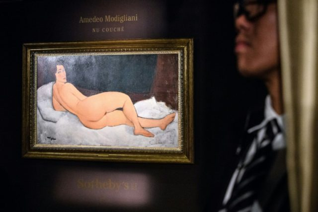 Amedeo Clemente Modigliani's 'Nu couché (sur le côté gauche)' The painting will be offered as the highlight of Sotheby's Impressionist and Modern Art Evening Sale in New York on May 14