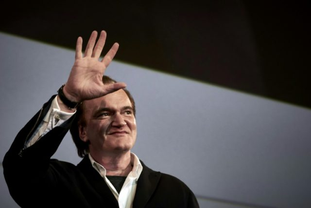 US film director Quentin Tarantino, pictured in 2016, opened Sony's presentation at the glitzy annual CinemaCon industry get-together