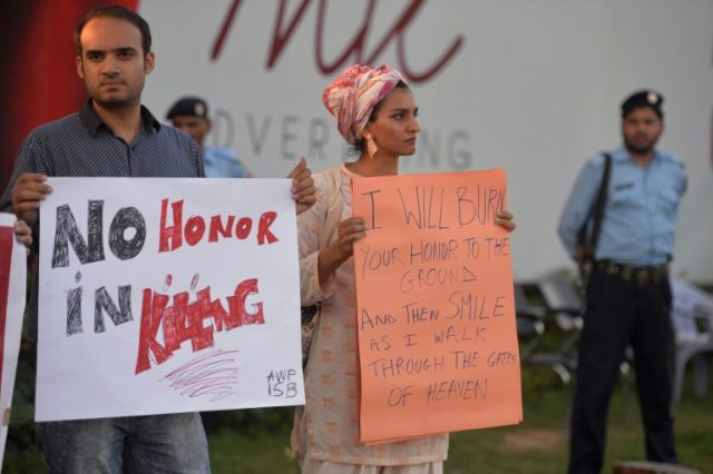 Pakistani activists protest in 2016 against a so-called honour killing: police are investigating a possible new case
