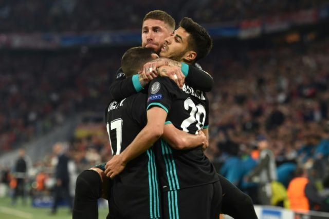Marco Asensio scored the winner as Real Madrid put one foot in the Champions League final