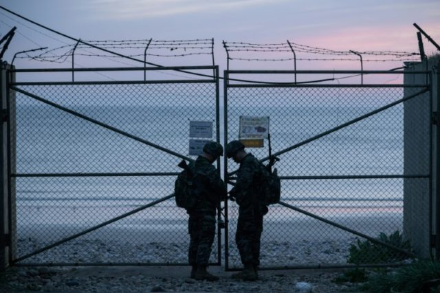 Gates to the beaches on Yeonpyeong island are locked at 6pm, sealing off the tiny population that lives just 1.5 kilometres from a disputed maritime border with North Korea