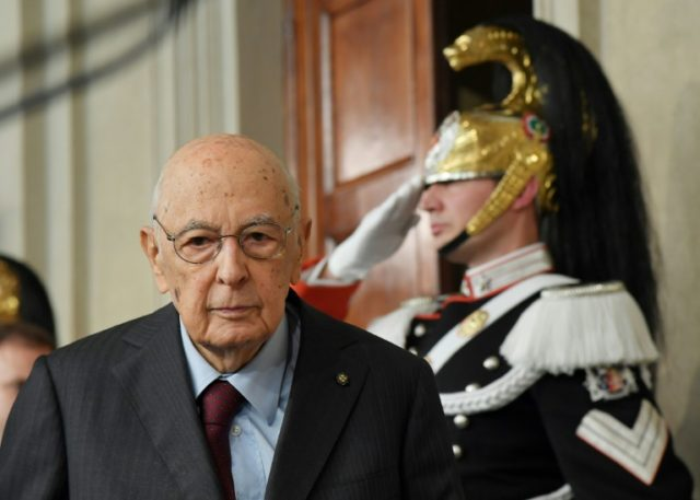 Italy's former president Giorgio Napolitano, seen here earlier this month, was respected for his ability to stay above the party political fray