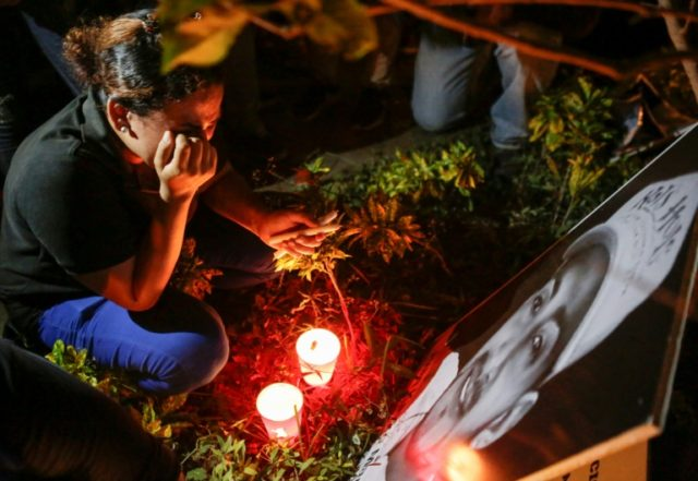 The toll from deadly anti-government protests in Nicaragua jumped to 34 after rights activists found more bodies in Managua's state morgue of people previously reported missing, and added people who succumbed in hospitals to their wounds