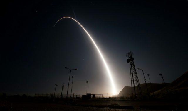 File photo of an unarmed Minuteman III test launch in 2017