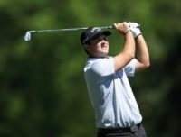 Patrick Reed of the United States plays his second shot on the fifth hole during the second round of the 2017 Masters Tournament at Augusta National Golf Club on April 7, 2017 in Augusta, Georgia