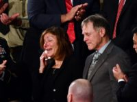 Cindy and Fred Warmbier are recognized during the State of the Union address at the US Capitol in Washington, DC, on January 30, 2018.