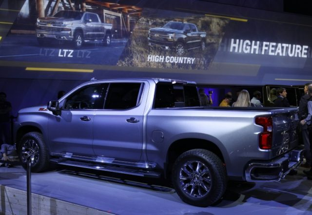 US plant shutdowns to prepare for new General Motors models like the 2019 Chevrolet Silverado 1500 led to lower North American sales, but sales in China remain strong