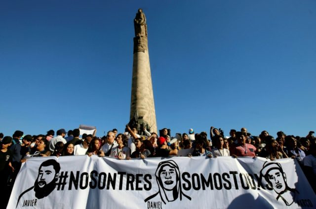 Many of the demonstrators rejected authorities' version of the events surrounding the three students' deaths