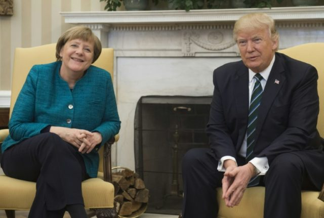 US President Donald Trump and German Chancellor Angela Merkel last met at the White House in March 2017