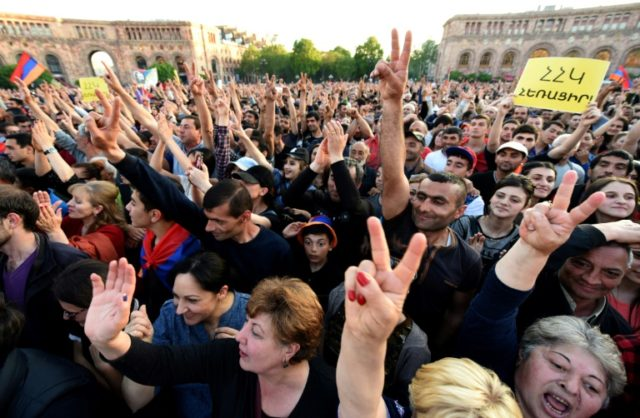 Anti-government supporters have staged two weeks of demonstrations in Armenia