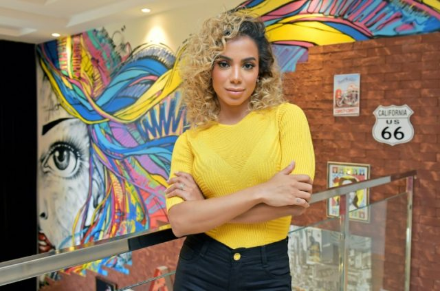 Brazilian pop singer Anitta -- who has rocketed to international fame -- poses at her home in Rio de Janeiro