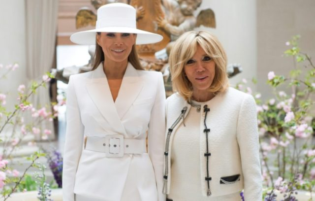 US First Lady Melania Trump and Brigitte Macron, wife of French President Emmanuel Macron, bonded during the French leader's visit to Washington