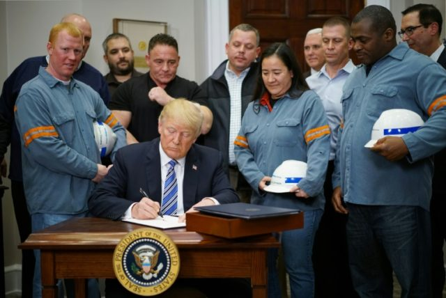 US President Donald Trump signed off on controversial steel and aluminum tariffs on March 8, 2018