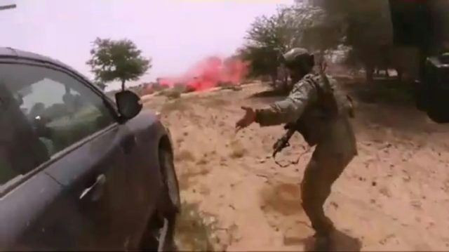 This video screen grab obtained via Nashir News Agency (an ISIS-affiliated propaganda group), appears to show the October 4 ambush of American and Nigerien soldiers in Tongo Tongo, Niger