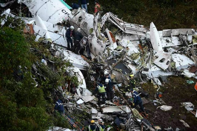 A 2016 plane crash in Colombia killed 71 people, including all but a handful of players from Brazil's Chapecoense Real football club
