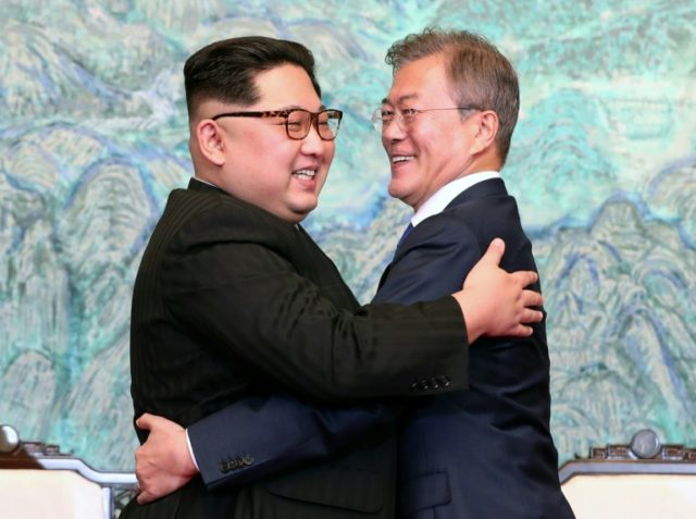 North Korea's leader Kim Jong Un Kim met South Korean President Moon Jae-in at the border truce village of Panmunjom, in the highlight of a diplomatic whirlwind that has swept the flashpoint peninsula