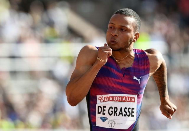 The Canadian Andre De Grasse's last appearance in an international competition was the Diamond League 200m race in Rabat, which he won in 20.03sec