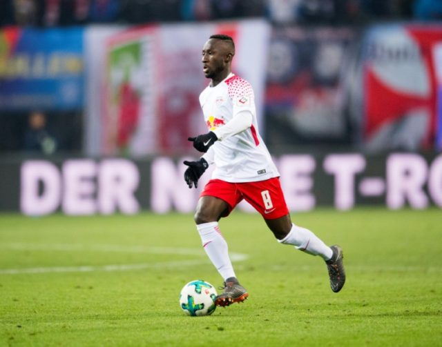 Naby Keita, pictured in March 2018, stormed off the pitch and will be suspended for Saturday's home match against Wolfsburg