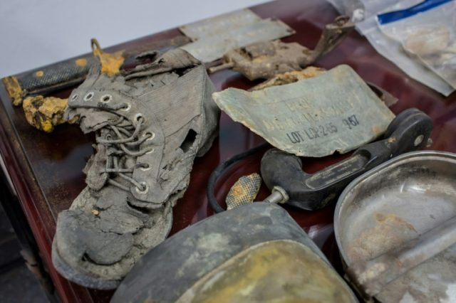 Some of the personal belongings of US soldiers missing in action recovered from the jungles of Vietnam