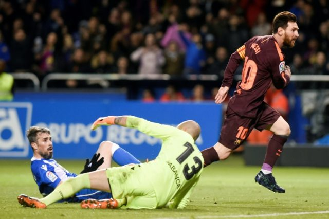 Lionel Messi was the star for Barcelona again on Sunday with his 30th La Liga hat-trick