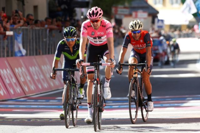 The pink jersey of the Giro d'Italia cycling race, worn here by last year's winner, Tom Dumoulin of the Netherlands, will soon be seen in Israel as the event becomes the first of cycling's three majors to be held outside Europe