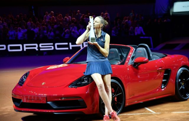 Karolina Pliskova won not only a trophy and a cheque but also a Porsche Boxster car for winning the Stuttgart final.
