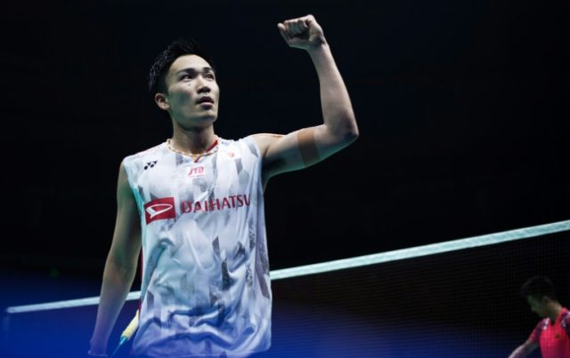 Kento Momota of Japan stunned China's Chen Long to win the 2018 Badminton Asia Championships