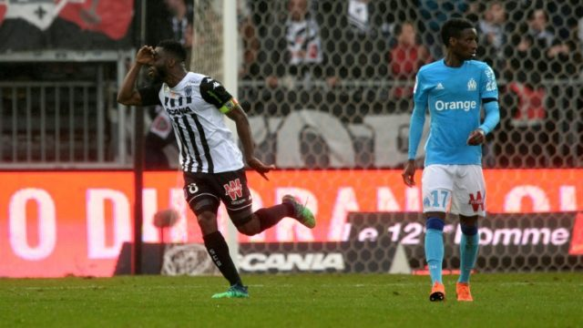 Ismael Traore's late strike snatched Angers a point against Champions League hopefuls Marseille