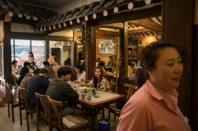Nampo Myeonok noodle bar in Seoul was inundated with diners keen to tuck into North Korea's signature dish