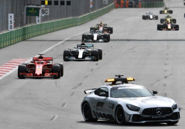 Lewis Hamilton accuses Sebastian Vettel of dangerous tactics when the safety car left the circuit in Baku on Sunday
