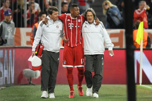 Bayern Munich must do without injured central defender Jerome Boateng at the Bernabeu