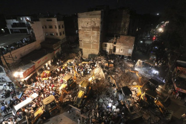 4-story hotel collapses in central India, killing 10