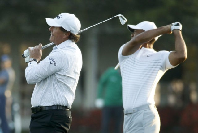 There's new Woods at Augusta, with Mickelson along for ride