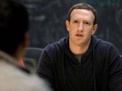 In this Nov. 9, 2017, file photo, Facebook CEO Mark Zuckerberg meets with a group of entrepreneurs and innovators during a round-table discussion in St. Louis. As Zuckerberg prepares to testify before Congress over Facebook's privacy fiasco, public-relations experts who have prepped CEOs before have plenty of advice on handling …