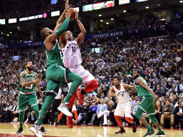 DeRozan scores 16 points as Raptors beat Celtics 96-78