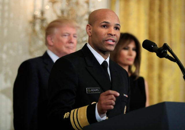 Donald Trump, Melania Trump, Jerome Adams