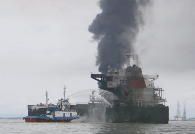 Oil spill that caused Indonesia fire was due to broken pipe