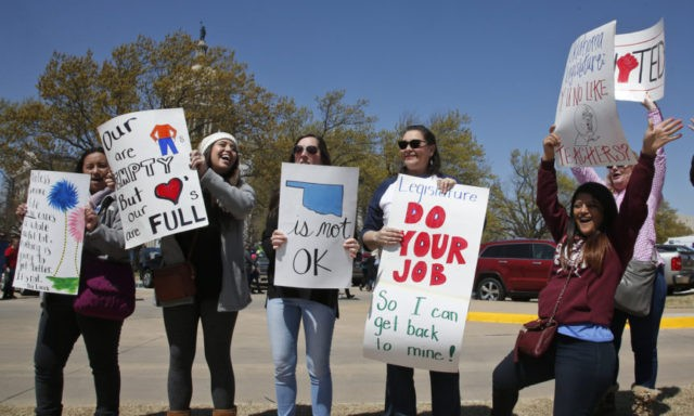 Oklahoma's Fallin: Striking teachers like teenagers
