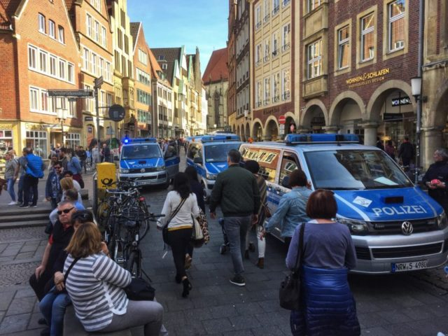 The Latest: Police find suspicious object in Muenster van