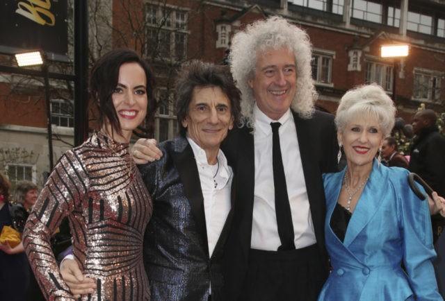 Sally Wood, Ronnie Wood, Brian May, Anita Dobson