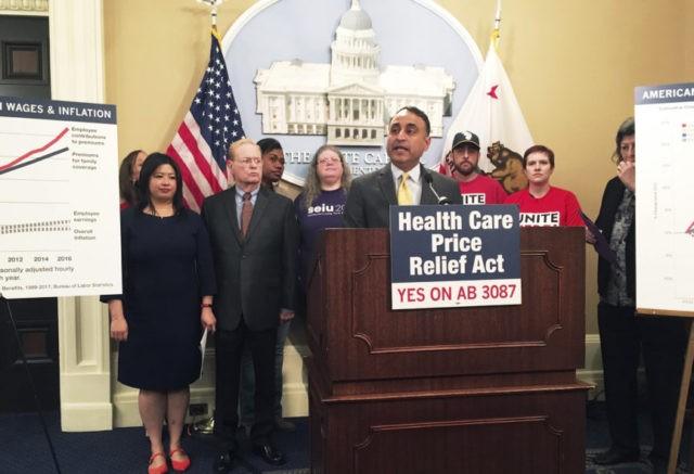 California bill would create health care price controls